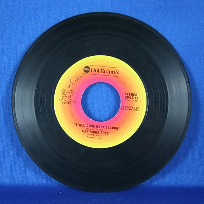 """Oak Ridge Boys - 45 LP """"Y'all Come back Saloon"""" & """"Emmylou"""""""