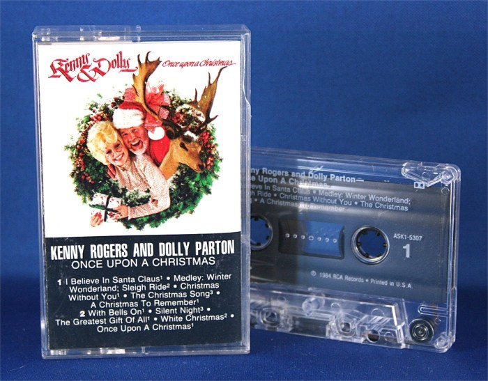 "Various Artists - cassette Kenny Rogers & Dolly Parton ""Once Upon A Christmas"""