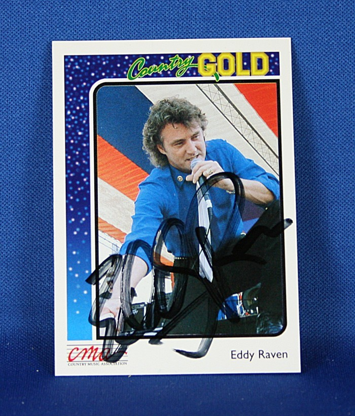 Eddie Raven - autographed Country Gold trading card #1