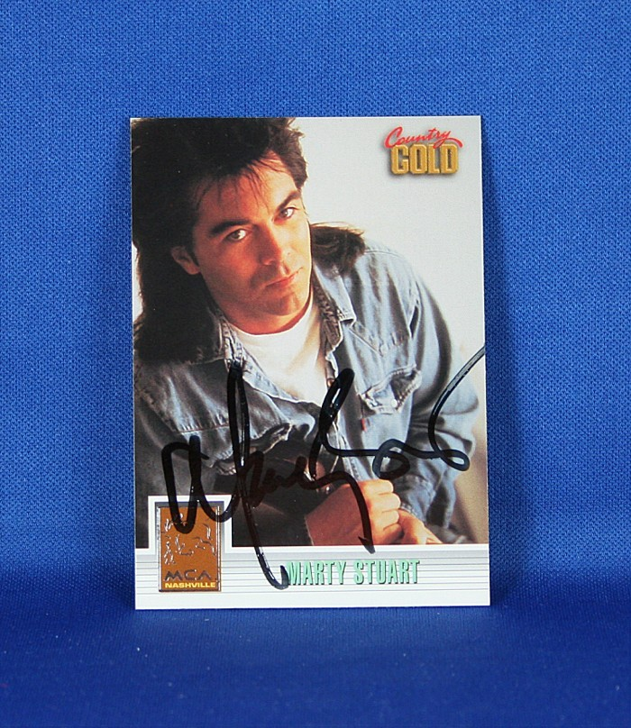 Marty Stuart - autographed 1993 Country Gold - sterling silver trading card #3