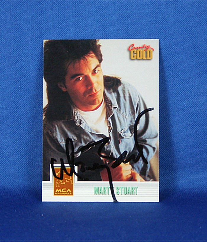 Marty Stuart - autographed 1993 Country Gold trading card #1