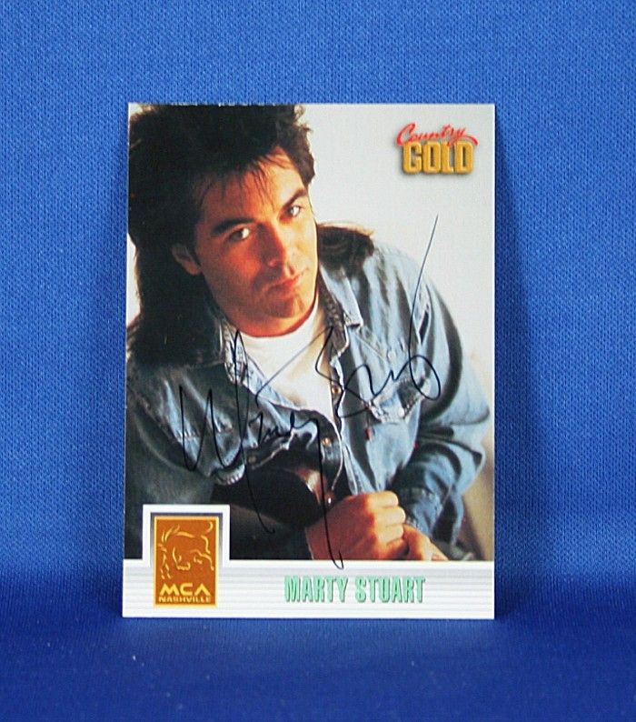 Marty Stuart - autographed 1993 Country Gold trading card #2
