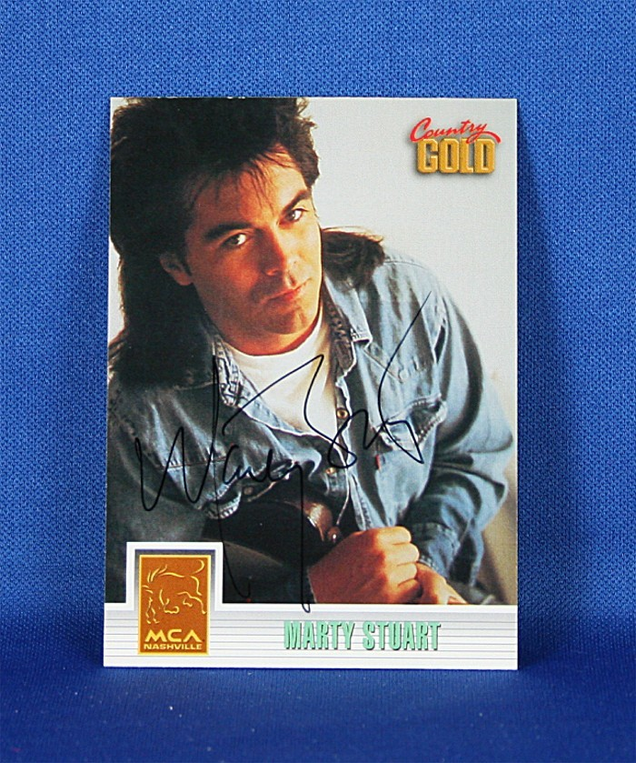 Marty Stuart - autographed 1993 Country Gold trading card #3
