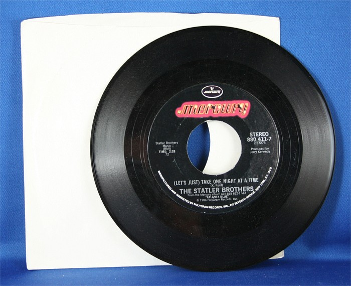 """Statler Brothers - 45 LP """"(Let's Just ) Take One Night At A Time"""" & """"My Only Love"""""""