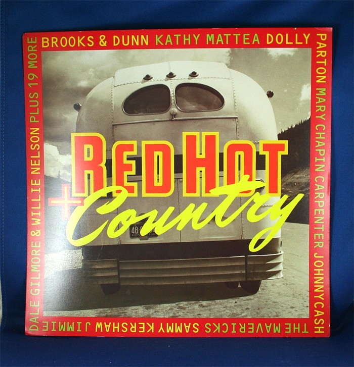 """Various Artists - promo flat """"Red Hot Country"""""""