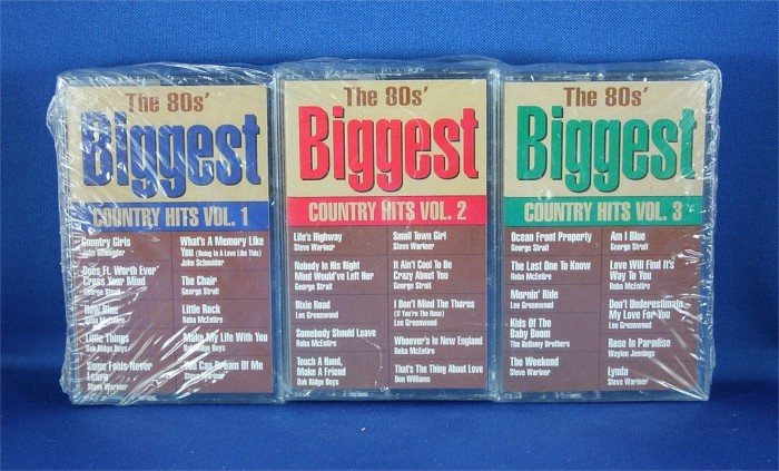 """Various Artists - cassettes """"The 80's Biggest Country Hits"""""""