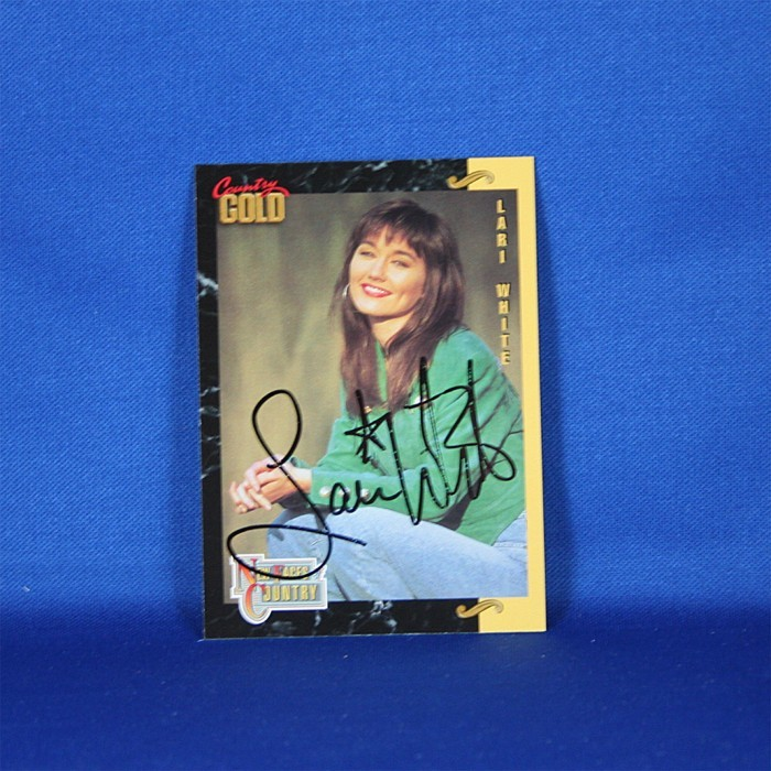 Lari White - autographed 1993 Country Gold trading card #1