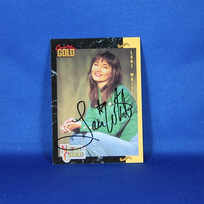 Lari White - autographed 1993 Country Gold trading card #4