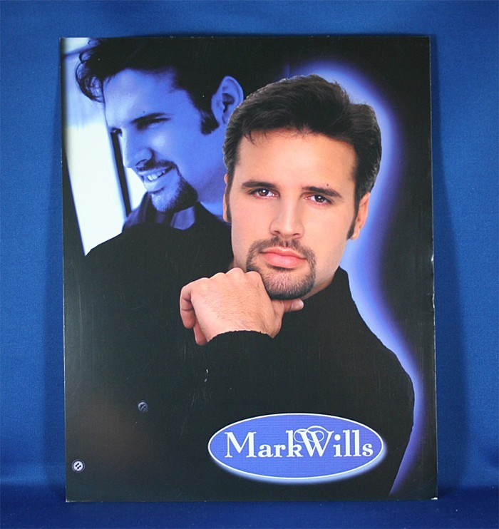 Mark Wills - 8x10 color photograph black & blue double pose