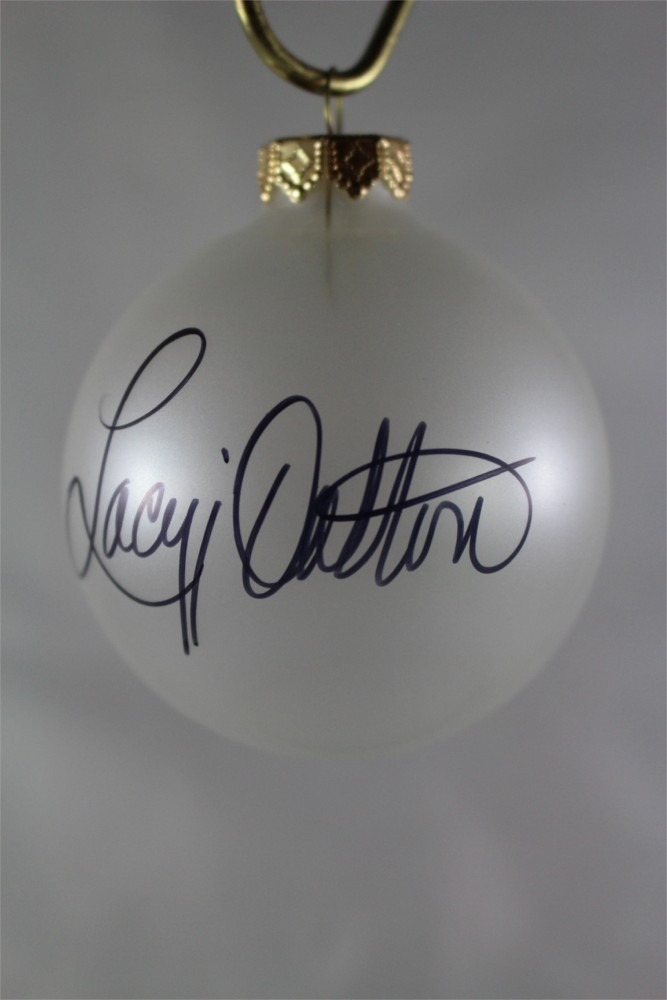 FFF Charities – Lacy J. Dalton – Clear Frosted Christmas Ornament #2