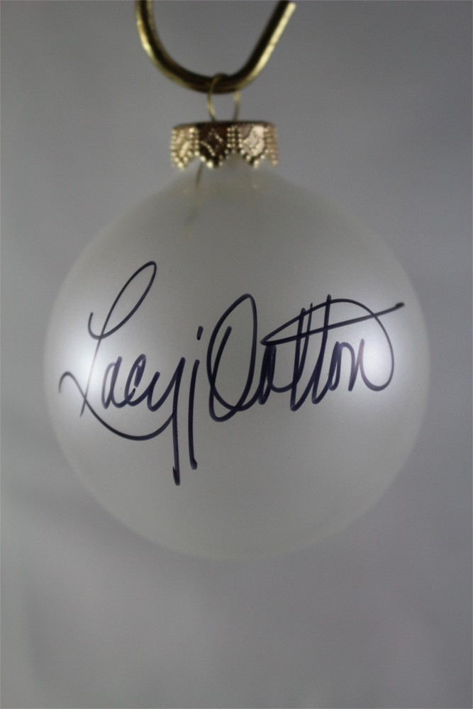 FFF Charities – Lacy J. Dalton – Clear Frosted Christmas Ornament #4