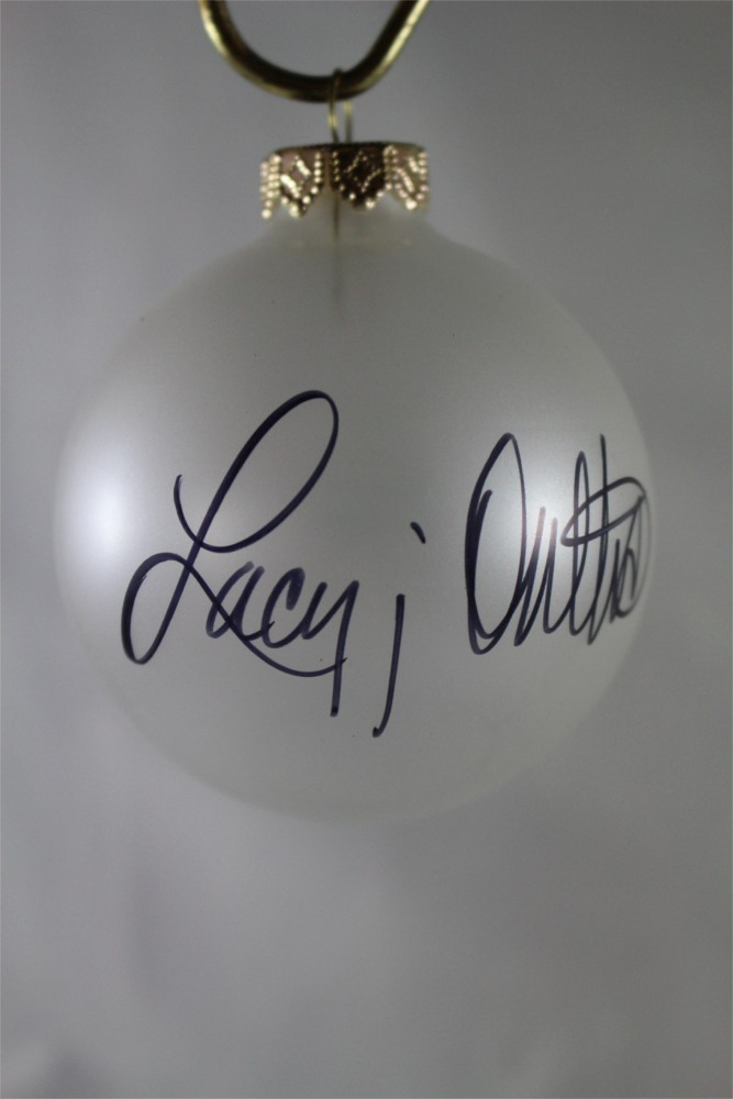 FFF Charities – Lacy J. Dalton – Clear Frosted Christmas Ornament #6