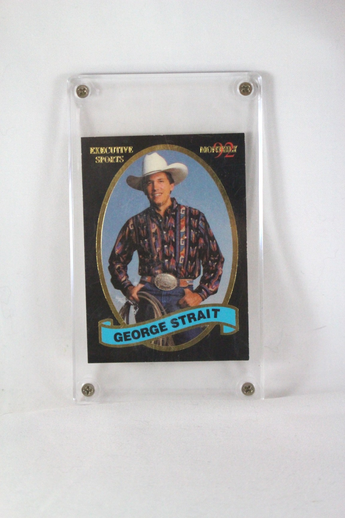 """George Strait – trading card """"Executive Sports Monthly"""" '92"""
