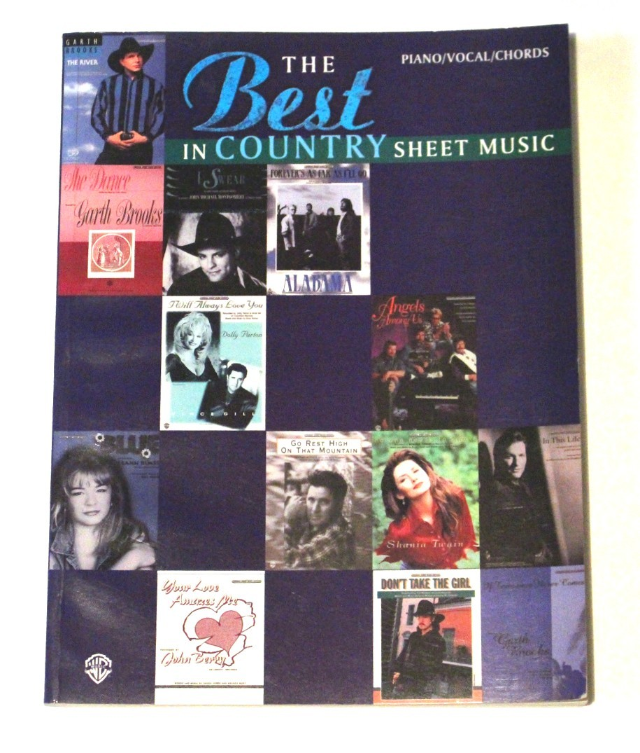 """Various Artists – songbook """"The Best In Country Sheet Music"""" 1996"""