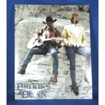 Brooks & Dunn - 8x10 color photograph sitting on rocks