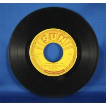 "Johnny Cash - 45 LP Sun Records ""The Rock,"" ""I Heard That Lonesome Whistle,"" and more"