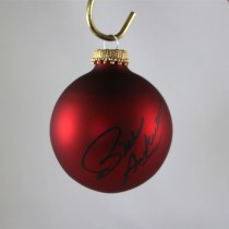 FFF Charities - Bill Anderson - autographed red Christmas ornament #1
