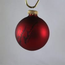 FFF Charities - Bill Anderson - autographed red Christmas ornament #4