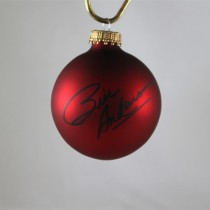 FFF Charities - Bill Anderson - autographed red Christmas ornament #6