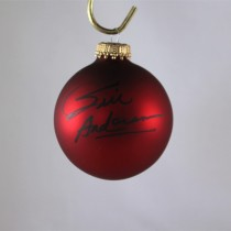 FFF Charities - Bill Anderson - autographed red Christmas ornament #12