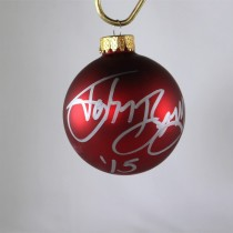 FFF Charities - John Berry - autographed red Christmas ornament #3