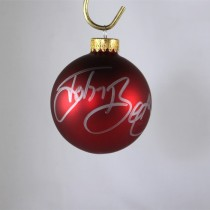 FFF Charities - John Berry - autographed red Christmas ornament #5
