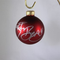FFF Charities - John Berry - autographed red Christmas ornament #6