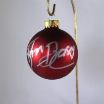 FFF Charities - John Berry - autographed red Christmas ornament #8