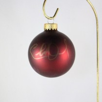 FFF Charities - Charlie Daniels - dark red Christmas ornament #6