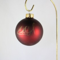 FFF Charities - Charlie Daniels - dark red Christmas ornament #7