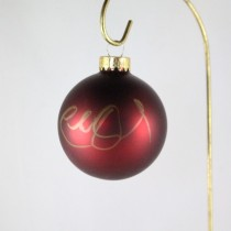FFF Charities - Charlie Daniels - dark red Christmas ornament #8