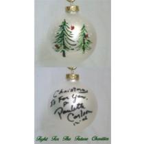 FFF Charities - Paulette Carlson - white evergreen Christmas ornament #3