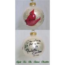 FFF Charities - Paulette Carlson - white Cardinal Christmas ornament #4