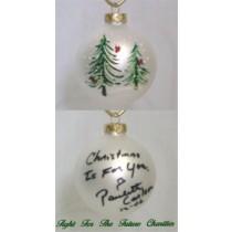 FFF Charities - Paulette Carlson - white evergreen Christmas ornament #4