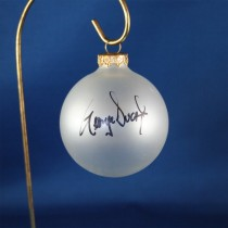 FFF Charities - George Ducas - clear frosted Christmas ornament #1