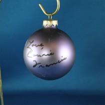 FFF Charities - Connie Francis - purple Christmas ornament #7