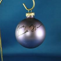 FFF Charities - Connie Francis - purple Christmas ornament #9