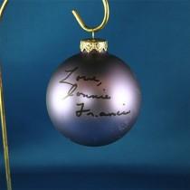 FFF Charities - Connie Francis - purple Christmas ornament #10