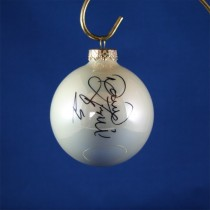 FFF Charities - David Frizzell - white Christmas ornament #2