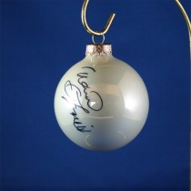 FFF Charities - David Frizzell - white Christmas ornament #3