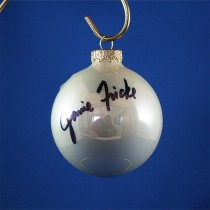 FFF Charities - Janie Frickie - white Christmas ornament #4