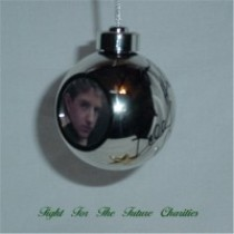 FFF Charities - Billy Gilman - gold Christmas ornament w/ recorded message