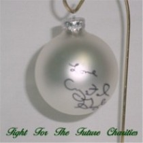 FFF Charities - Crystal Gayle - silver Christmas ornament #6