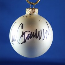 FFF Charities - Lee Greenwood - white Christmas ornament #4