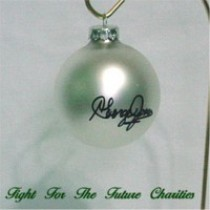 FFF Charities - George Jones - white Christmas ornament #1