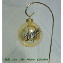 FFF Charities - George Jones - Clear Gold Christmas Ornament #6