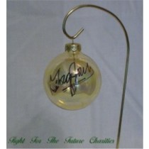 FFF Charities - George Jones - Clear Gold Christmas Ornament #7