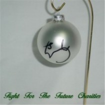 FFF Charities - Craig Morgan - silver Christmas ornament #3