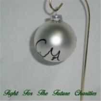 FFF Charities - Craig Morgan - silver Christmas ornament #4