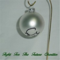 FFF Charities - Craig Morgan - silver Christmas ornament #6
